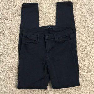 J Brand Serious Black Super Skinny Jeans